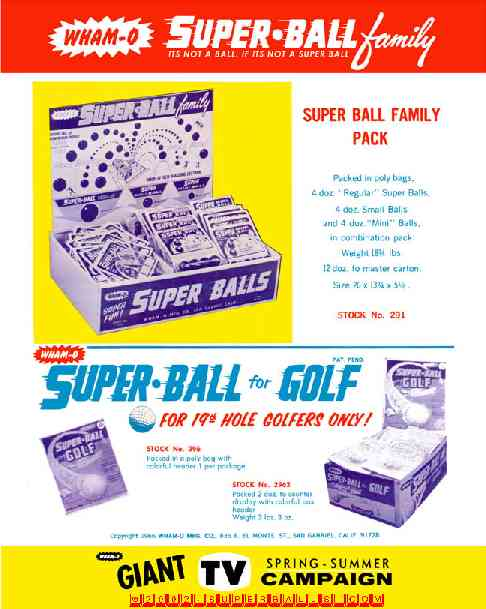 Super Ball ® Family Portrait - - Wham-O ® Catalog (1969)
